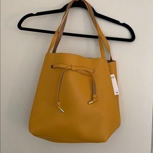 Yellow H&M shoulder bag